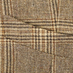 Brown Plaid Wool & Silk Vest S/38