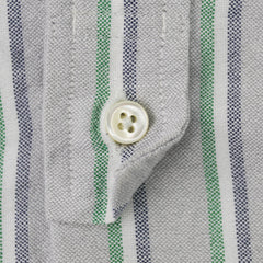 Striped Slim Fit Cotton Buttondown Shirt M