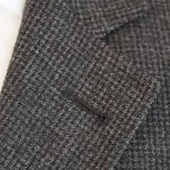 Gray Soft Tweed Leather Accent Blazer Jacket 38 R