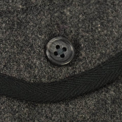Gray Notch Lapel Wool Buckle Back Vest XS