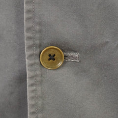 Y's Gray Cotton Minimalist Button-Front Jacket L XL 4