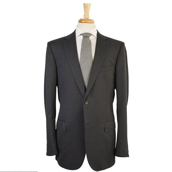 'Multiseason' Dark Gray Wool Solid Suit 44 L Roma