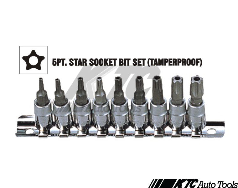 5 Point Star Torx Socket Set Tools Mercedes VW Volkswagen Audi etc..