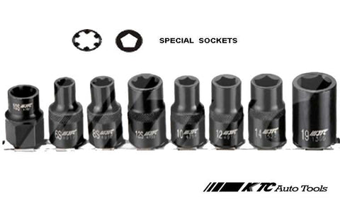 8PCS 1/2/Dr SPECIAL SOCKETS SET