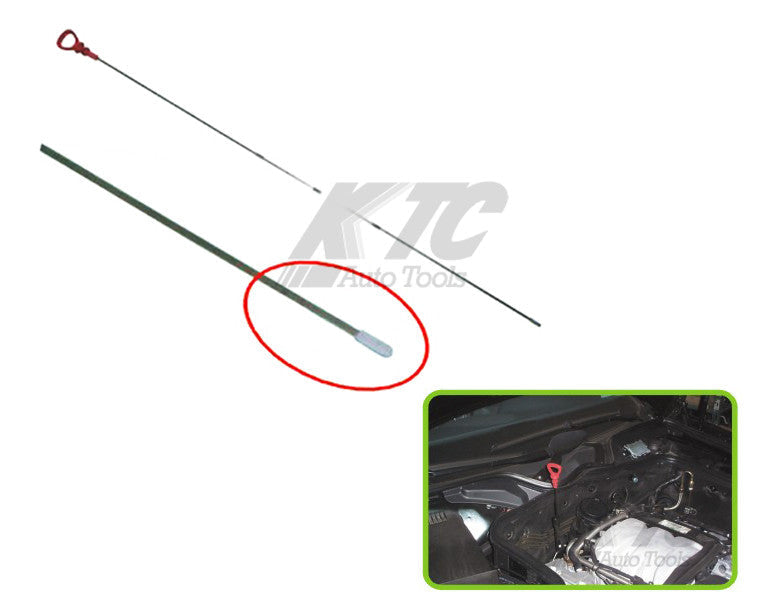 Benz Engine Oil Level Dipstick Straight End Same as MB 120 589 06 2100