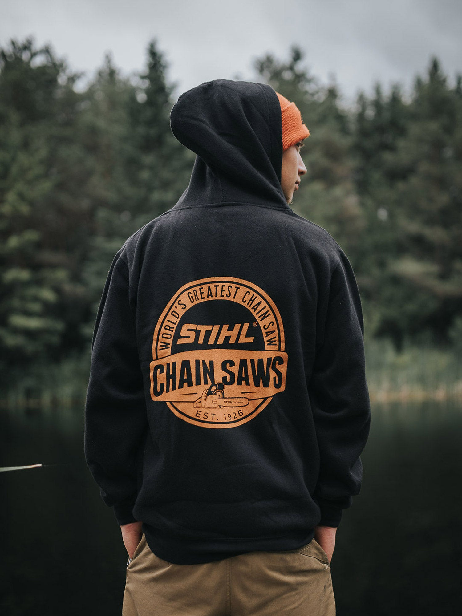 Cardigan sweat à capuchon Stihl Scies à Chaîne