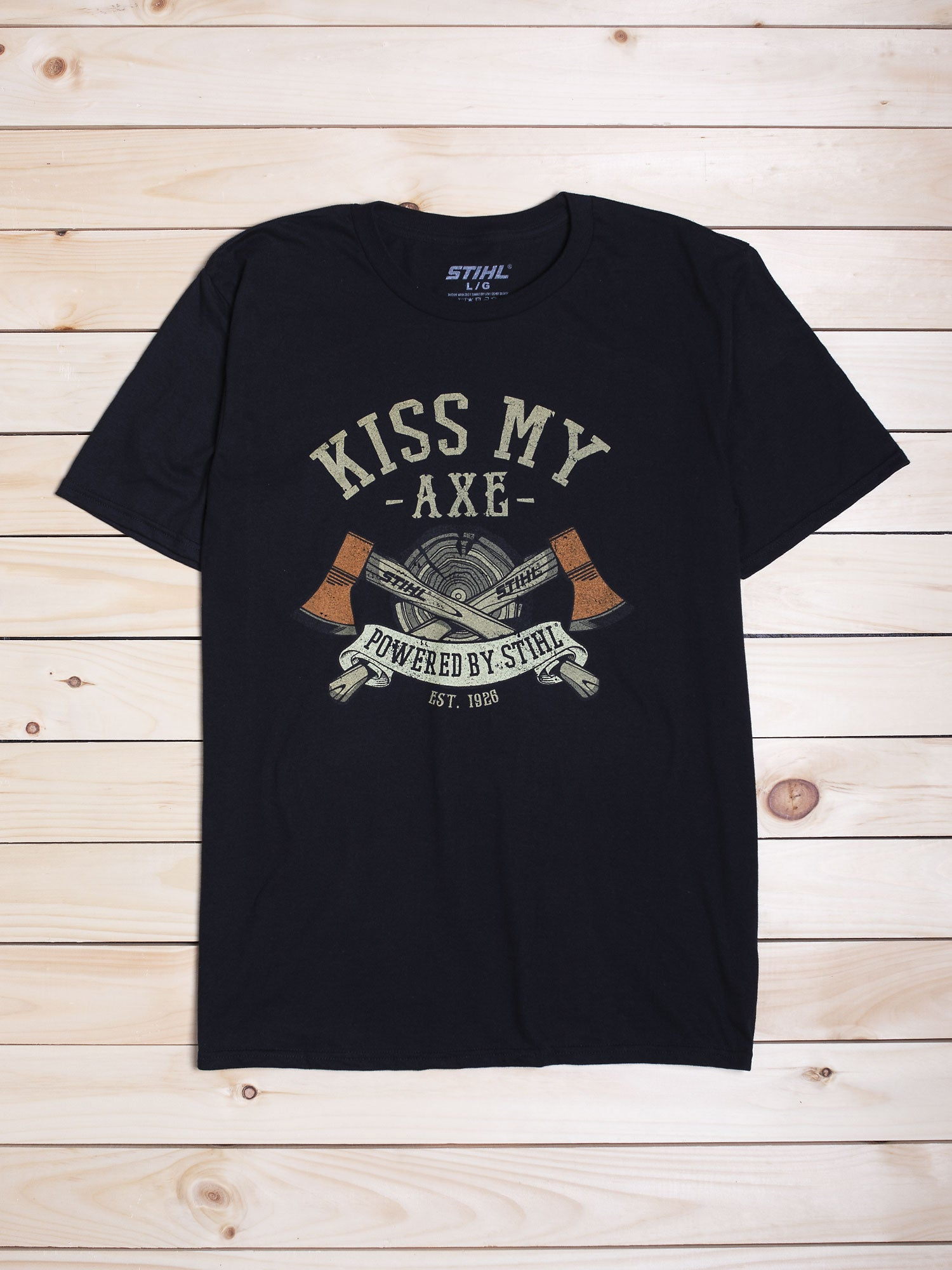 "STIHL ""KISS MY AXE"" T-SHIRT"