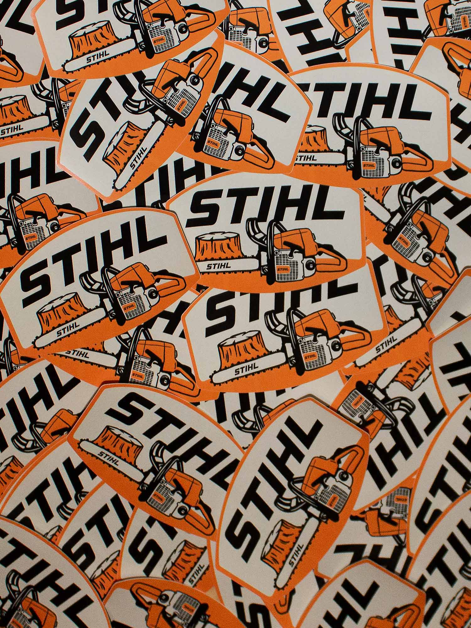 STIHL Saw Stump Decal