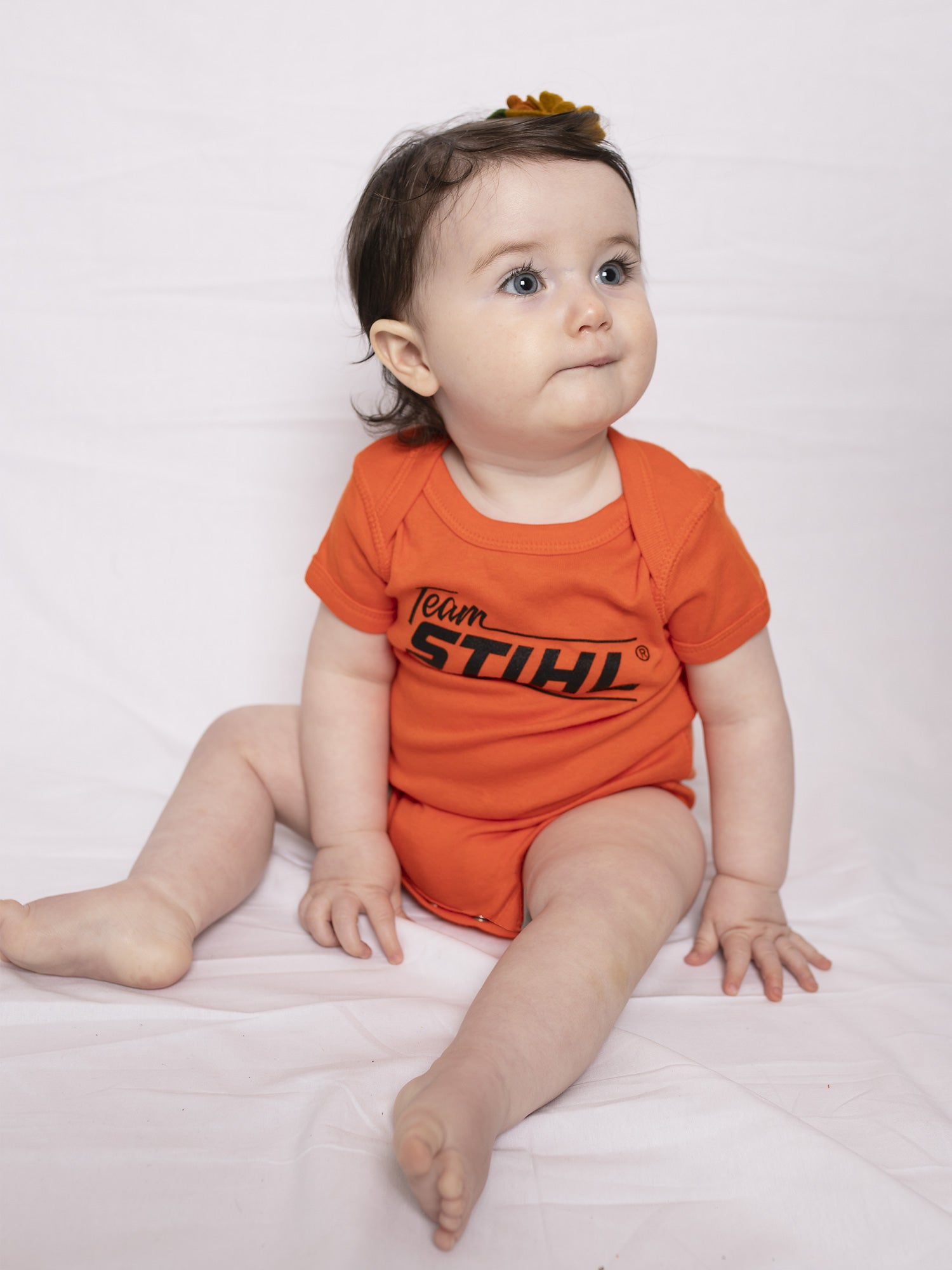STIHL Infant Short Sleeve Baby Rib Bodysuit