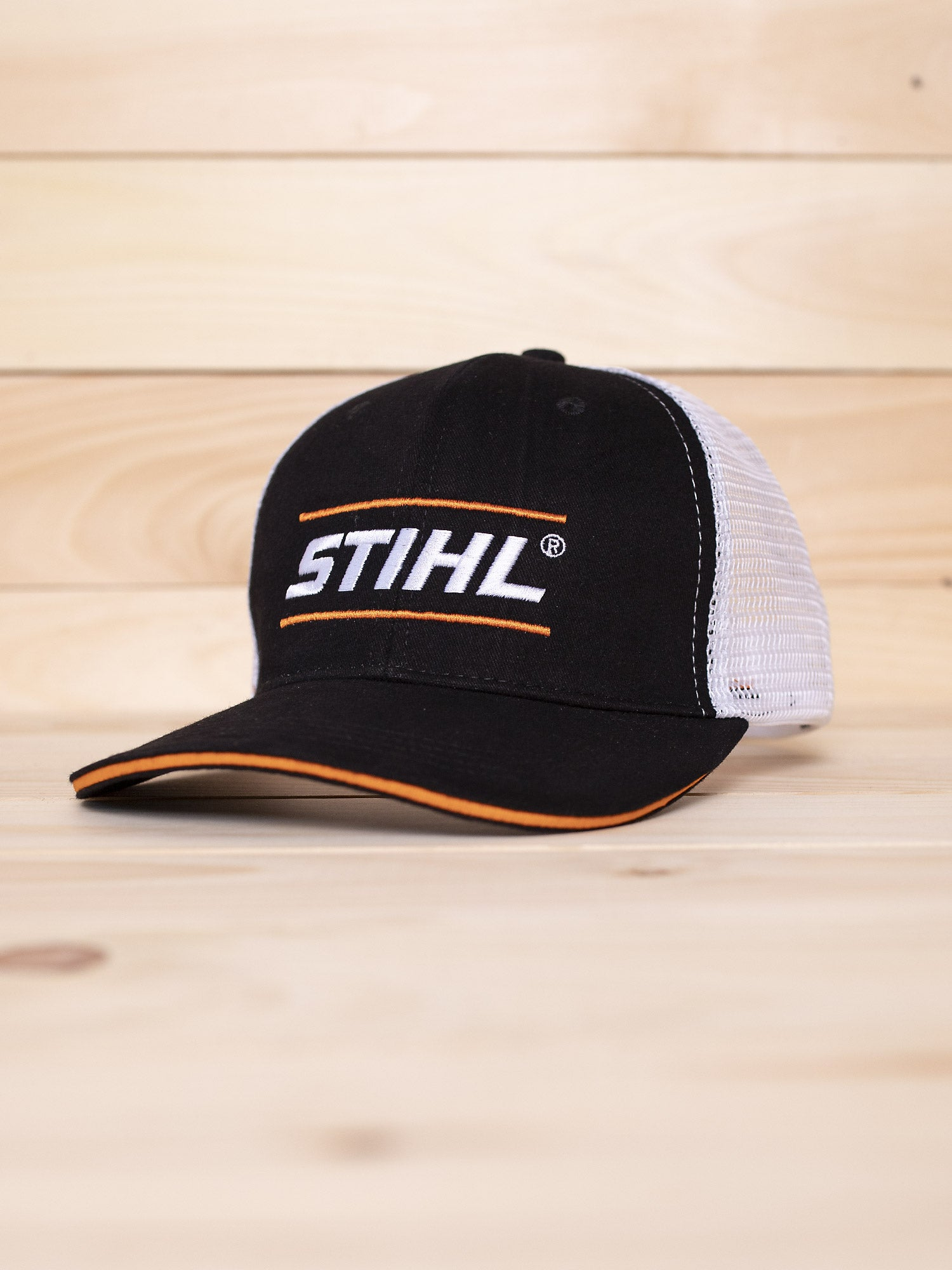 STIHL Black / White Mesh Back Hat