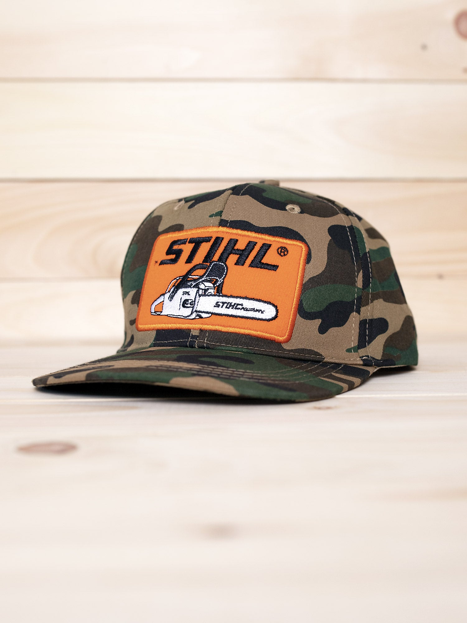 6d6fed87 STIHL CAMO PATCH HAT – STIHL OUTFITTERS