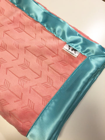 Warm & Cozy Adult Cuddle Blanket Coral Arrows