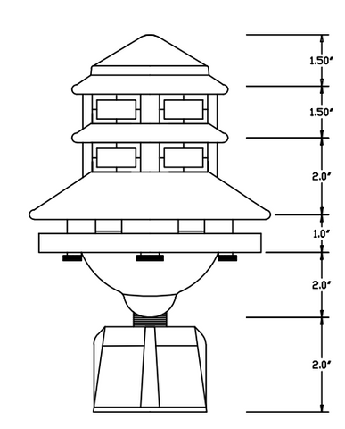 Indestructible Resin Pagoda Light