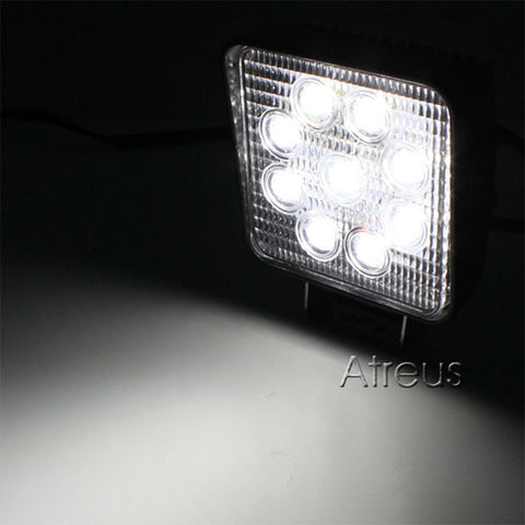Automotive 4 Inch 27W High-Power 3W Running light for 4x4 Offroad ATV Truck Tractor Motorcycle Driving Fog Lights