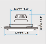 "(C6-30YYZZ)  Commercial LED Down Light, 6"", 30W"