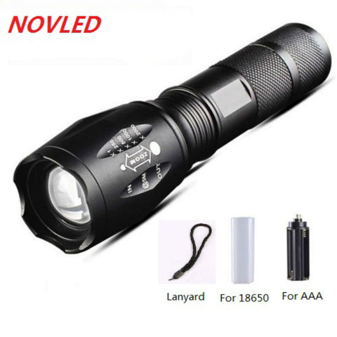 8000 Lumens LED High Power CREE XML-T6 5 Modes Flashlight Applicable For AAA or 18650 And Mini Pocket Torch Flashlight For AA