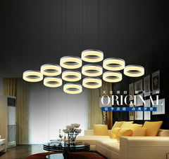 Modern round ring circular Acrylic LED chandelier light - Online Lighting - 1