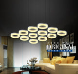 Modern round ring circular Acrylic LED chandelier light