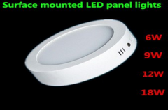 Dimmable 6w12w18w round surface mounted led down light