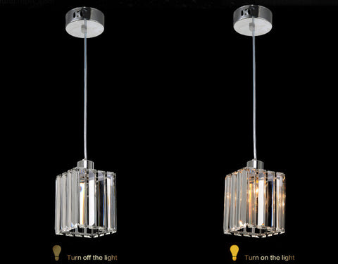 modern k9 crystal square pendant light lamp online lighting