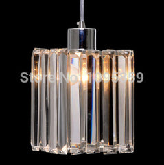 Modern K9 Crystal Square Pendant Light Lamp - Online Lighting - 1