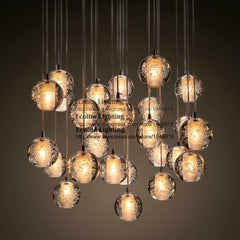 Modern LED Pendant Light  with Crystal Globes and Bocci Style Light - Online Lighting - 1