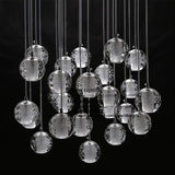 Modern LED Pendant Light  with Crystal Globes and Bocci Style Light