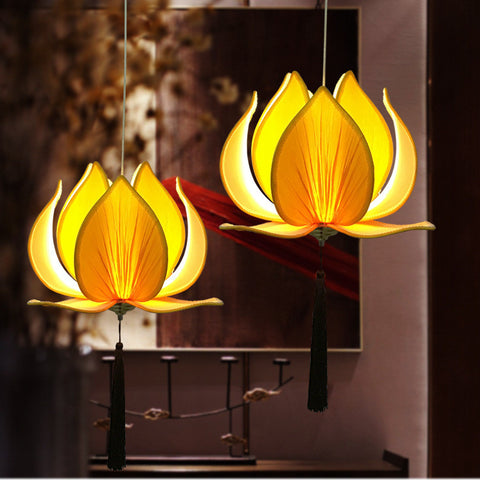 Lotus Chandelier Pendant Ceiling Lamp