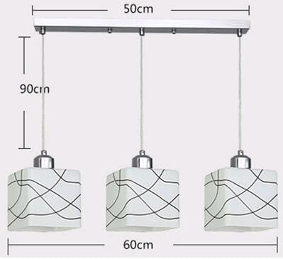 American Style Modern Square LED Pendant Lights