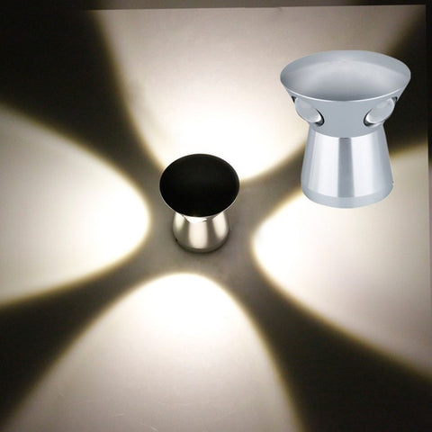 LED Wall Light with Silver Aluminum Finish