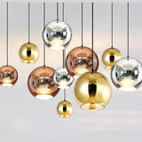 Nordic home globe glass pendant with LED lamp