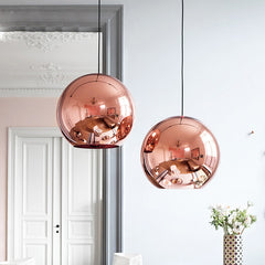 Nordic home globe glass pendant lamp