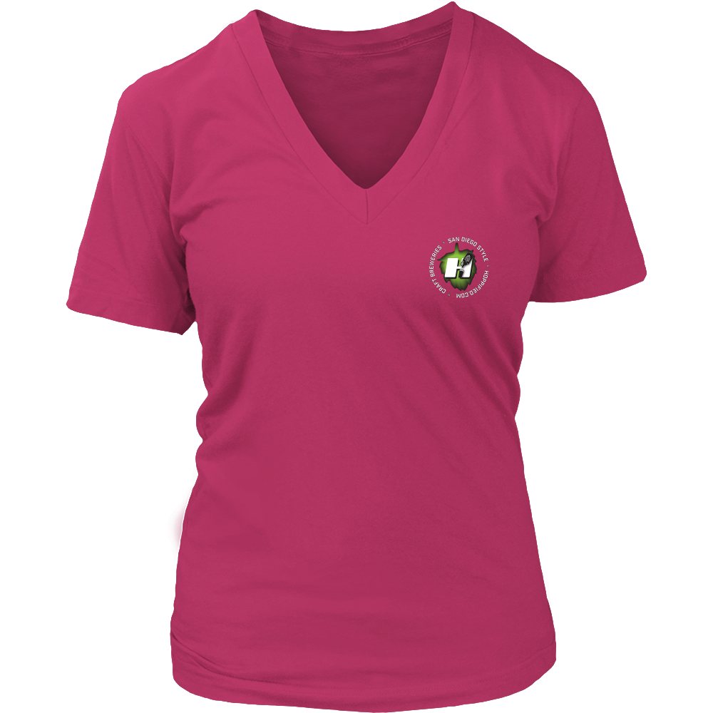 30th St. Hoppified Womens V-Neck Tee