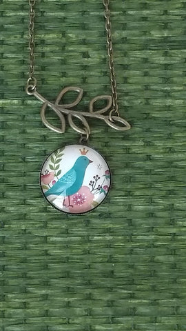 "Bluebird Handmade 24"" Necklace"