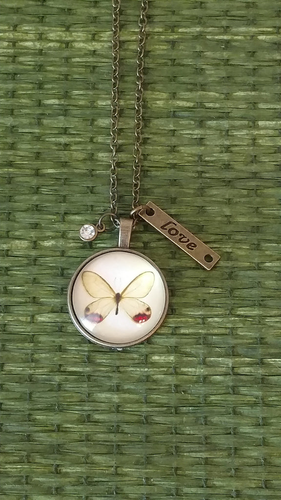 "Butterfly-White Handmade 22"" Necklace"