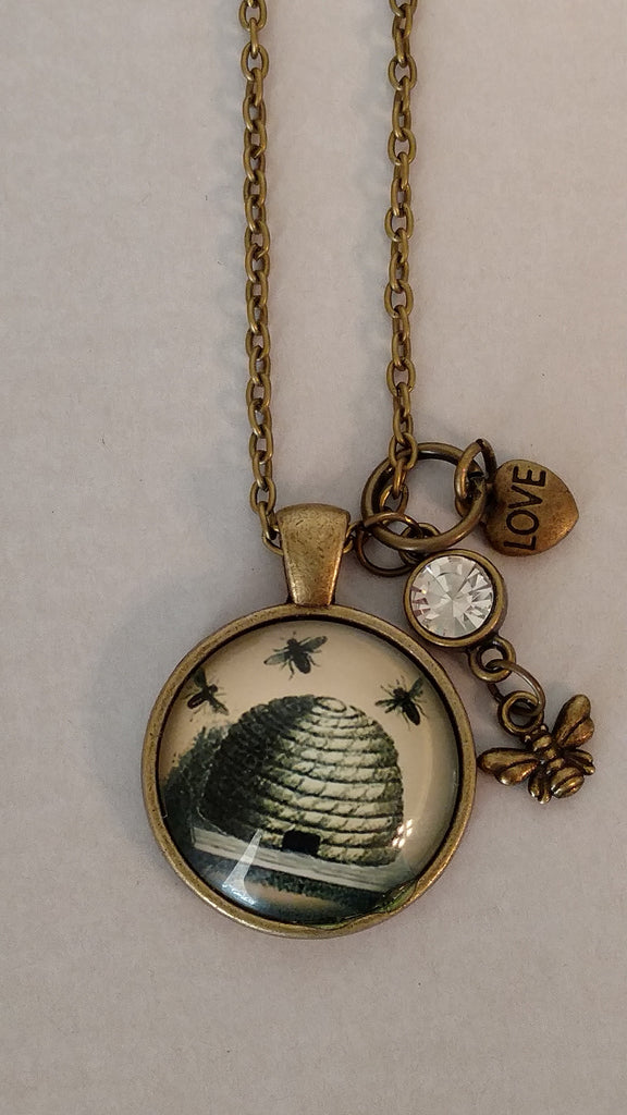 "Beehive Handmade 20"" Necklace"