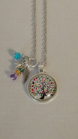 "Autism Awareness Handmade 22"" Necklace"