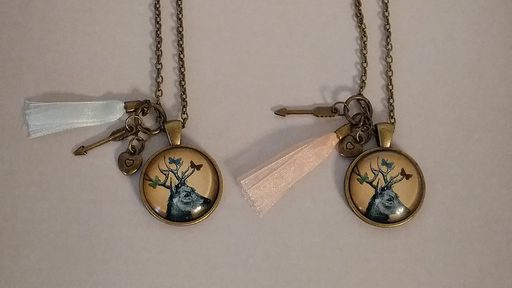 "Deer Handmade 21"" Necklace"