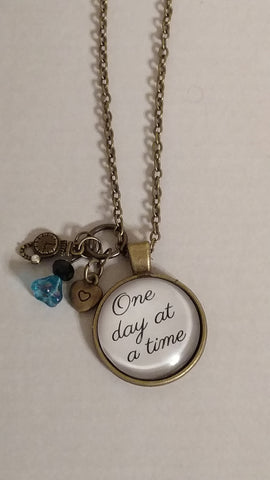 """One day at a time"" Handmade 21"" Necklace"