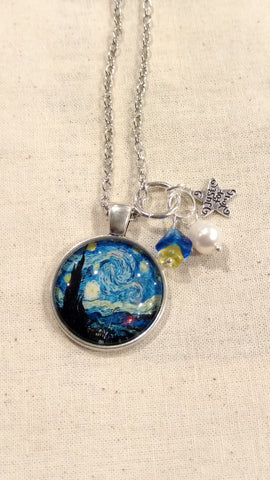 "Van Gogh Handmade 24"" Necklace"