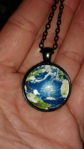 "Earth Pendant Handmade 18"" Necklace"
