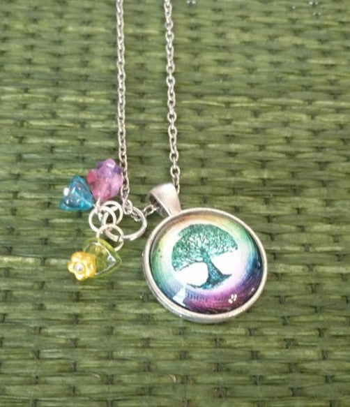 "Blue Tree of Life Handmade 20"" Necklace"