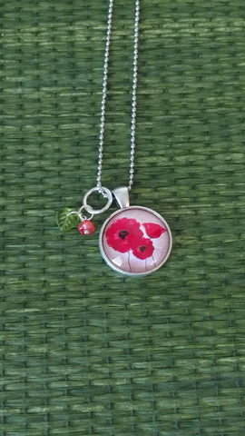 "Poppies Handmade 18"" Necklace"