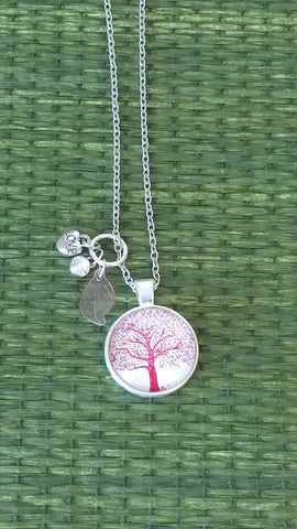 Red Tree of Life Handmade Necklace