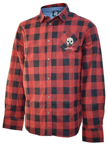 Friday the 13th Jason Embroidered Red Flannel Checked Shirt