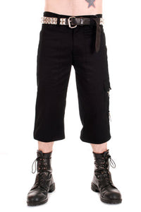 Black Zip Bondage 3/4 Trousers