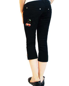 Cherry Tattoo Capri Jeans