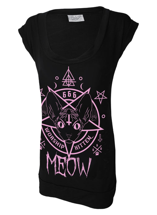 Meow Kitten 666 Fitted Tshirt Dress