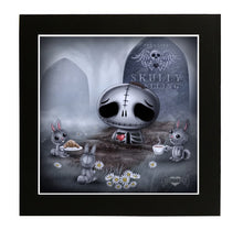 "Skully Skelling ""Dead Tired"" Mounted Print"
