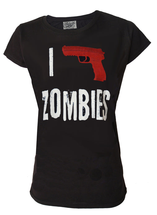 I Shoot Zombies Slim Fit Tshirt